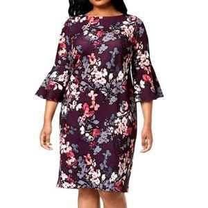 Calvin Klein Women's Plus-Size 3/4 Peplum Sleeve S